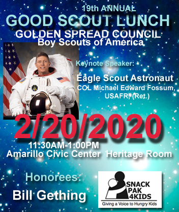 2020 Good Scout Luncheon flier for 2/20/2020